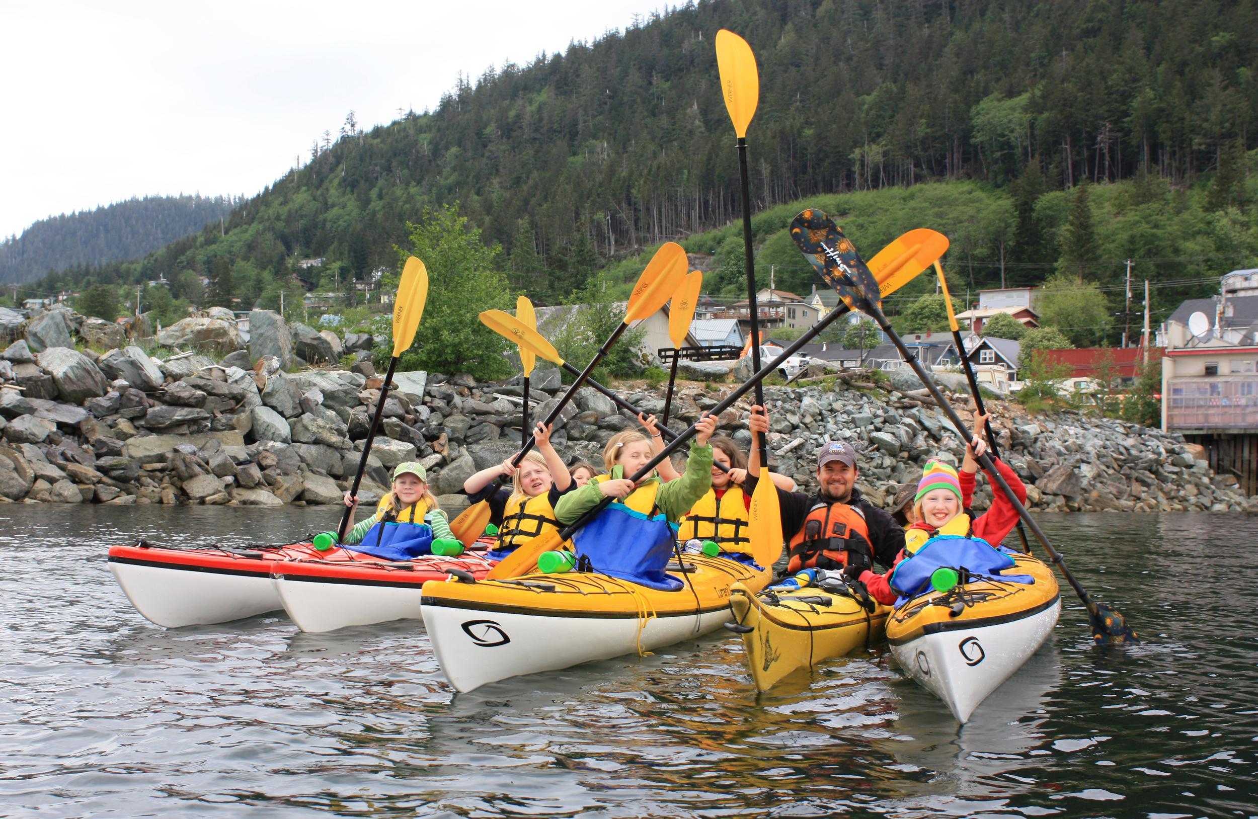 James & Girl Scout Kayak Camp participants