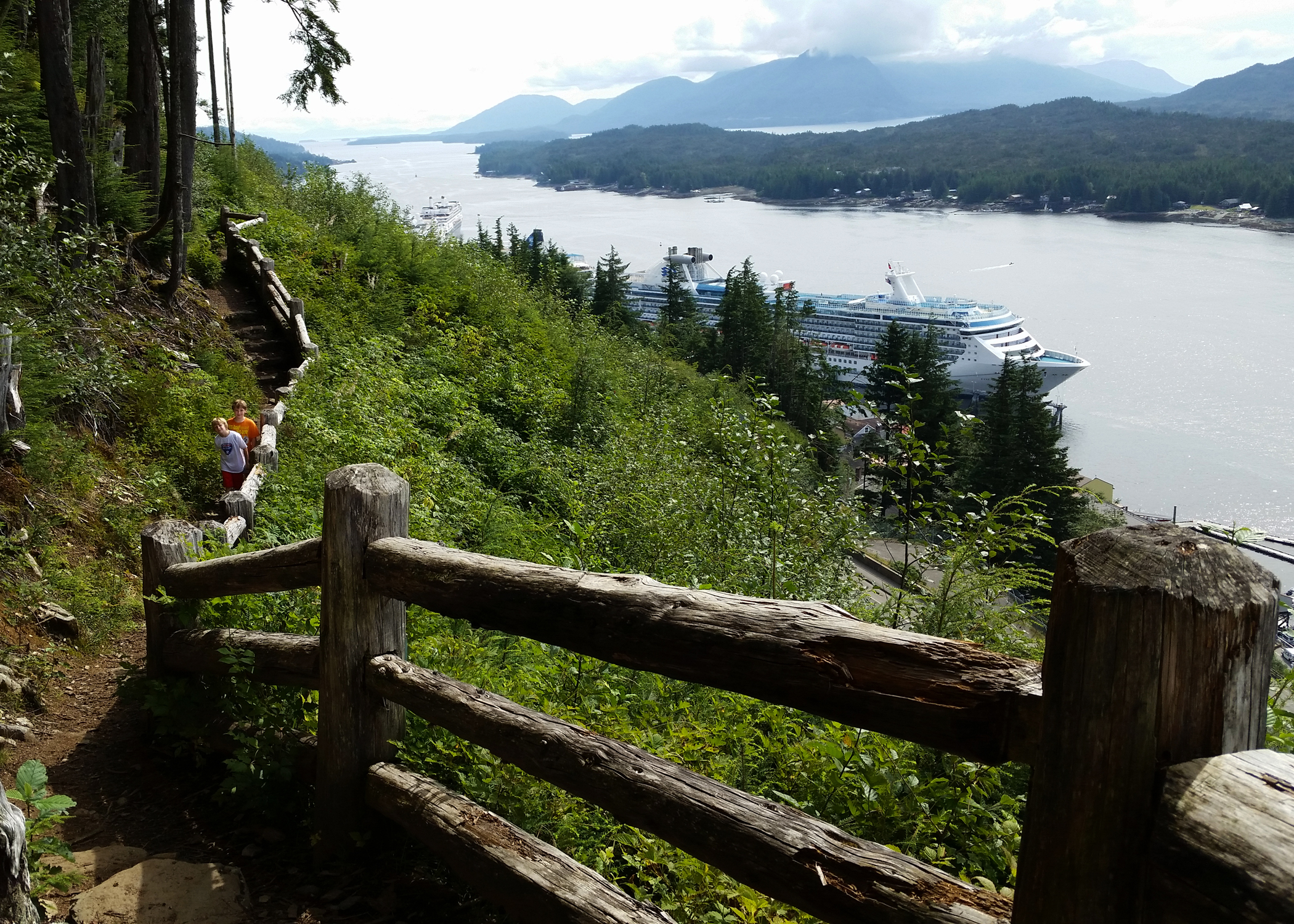 Hiking the Rainbird Trail above Ketchikan, Alaska.
