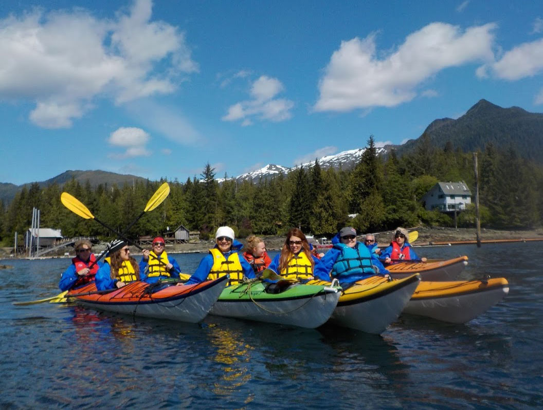 A beautiful day for a group paddle in Ketchikan, Alaska.