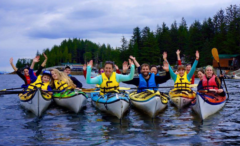 Kayaking with friends and family in Ketchikan.