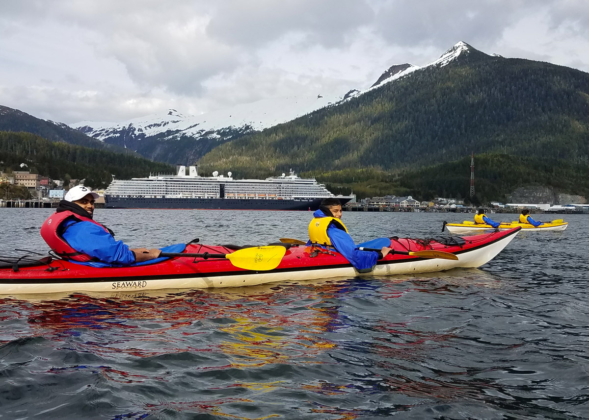 Ketchikan Kayaking is a great way to get out on the water and explore the town in just 2.25 hours. For a wilderness experience, check out the 4 hour Orcas Cove tour.