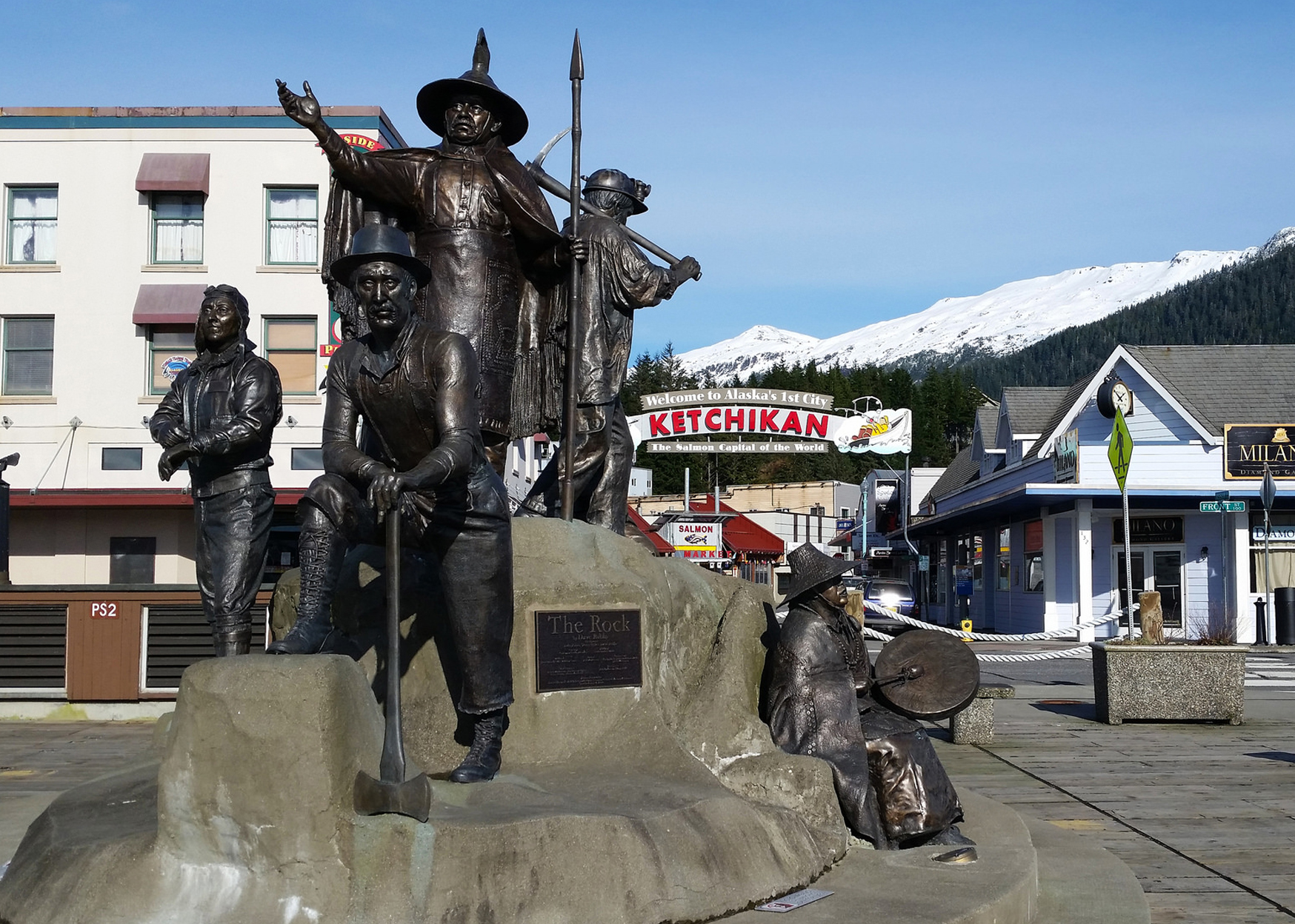 Dave Rubin's  The Rock , right next to the Ketchikan Visitors Bureau.