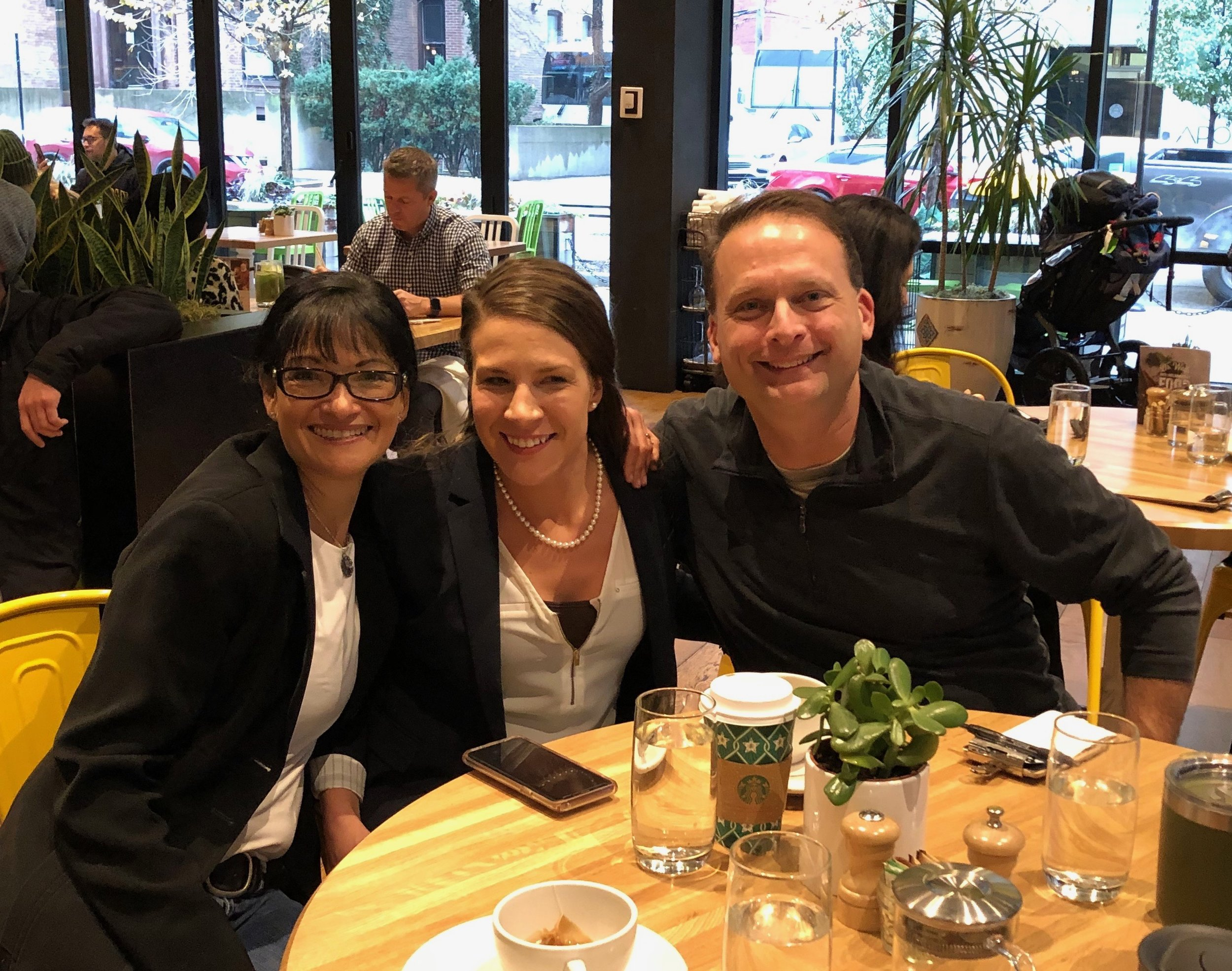 Caren and Alan take a break for lunch (with Amber Hinds of WealthMerge) while attending the Illinois NAELA (National Academy of Elder Law Attorneys) Summit in Chicago.