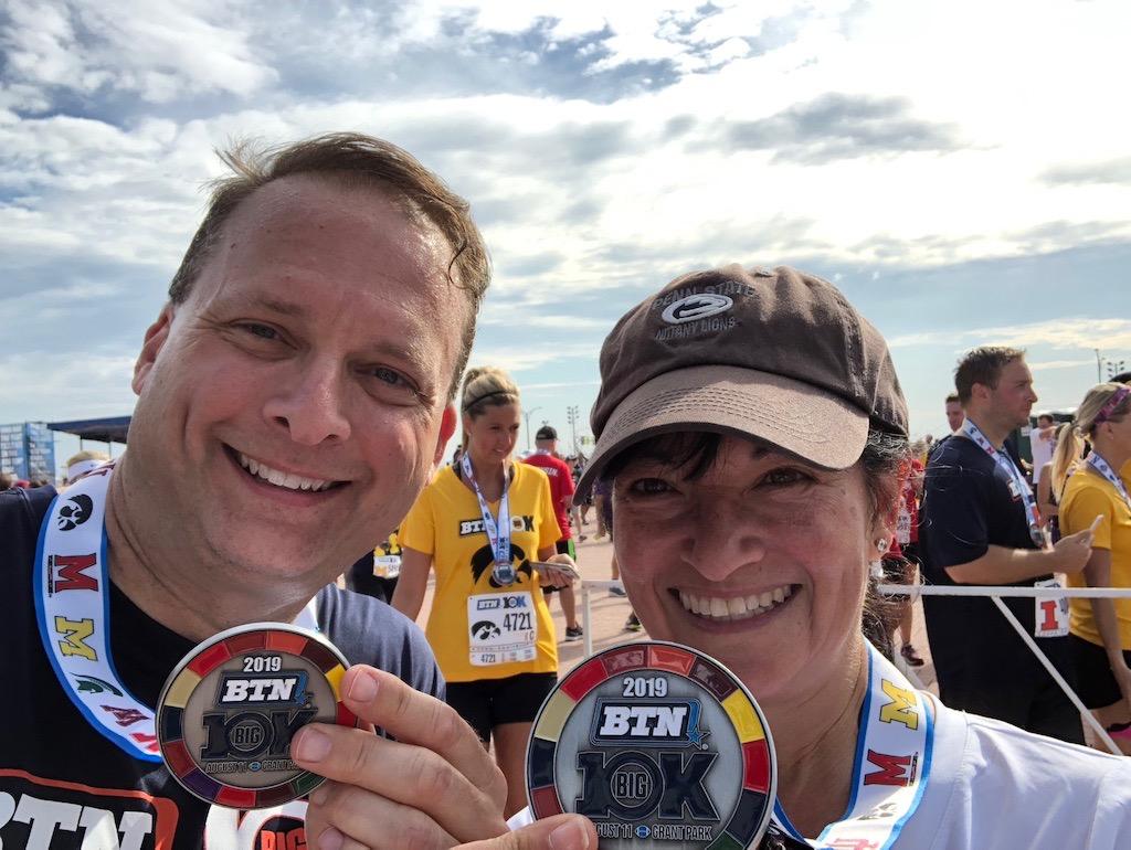 Alan and Caren, big medal winners!