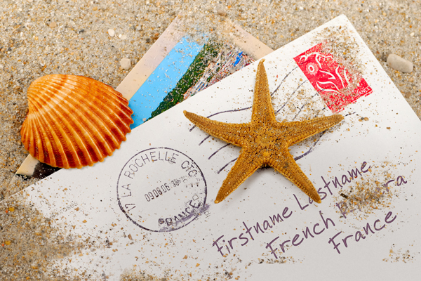 Postcard in Sand