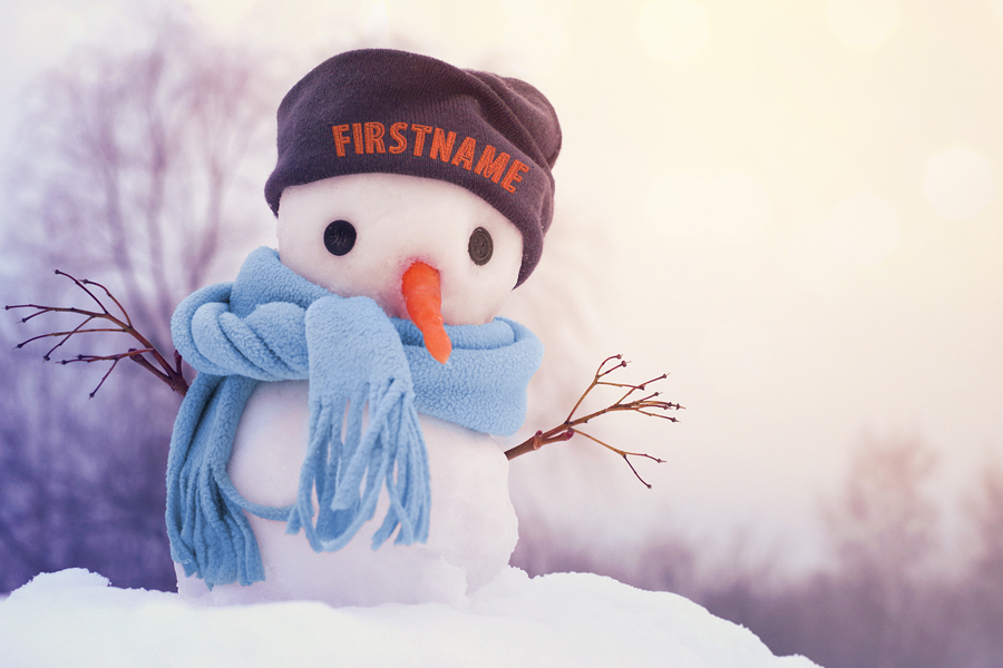 Snowman with Scarf