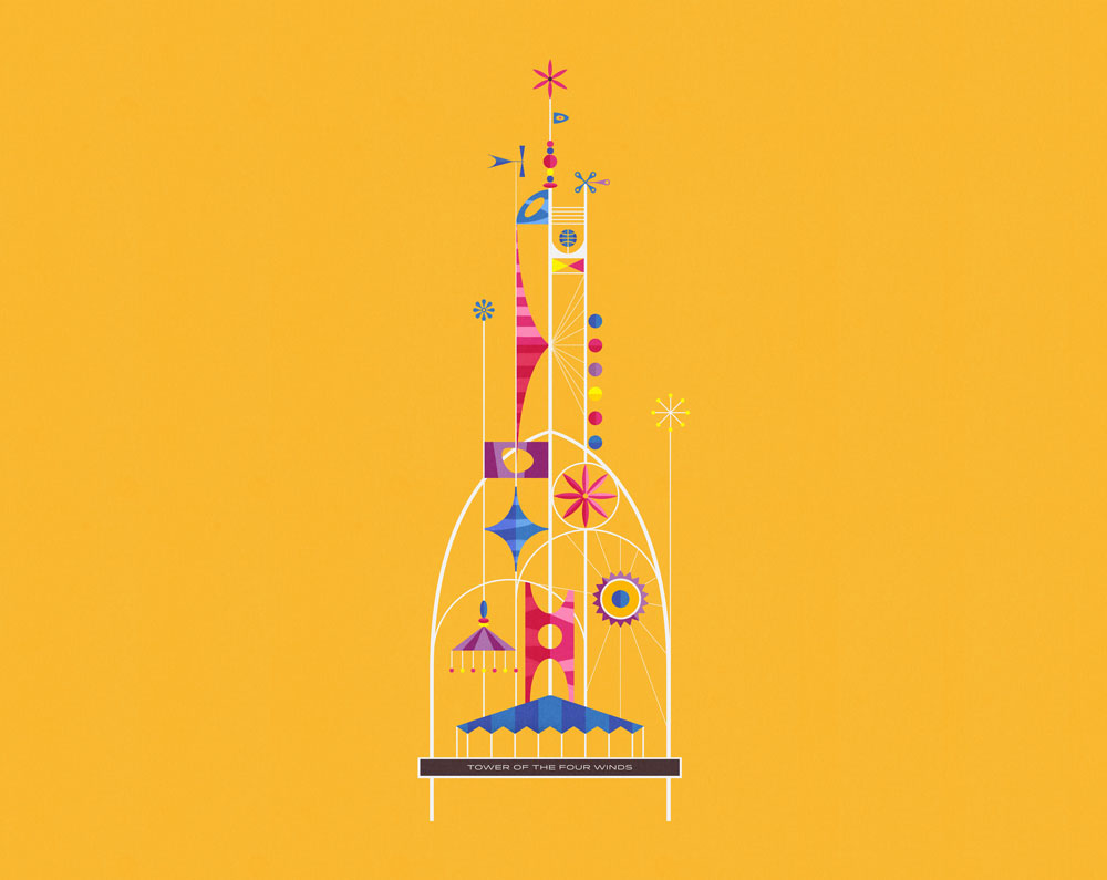 Tower of the four winds - Illustration + Animation