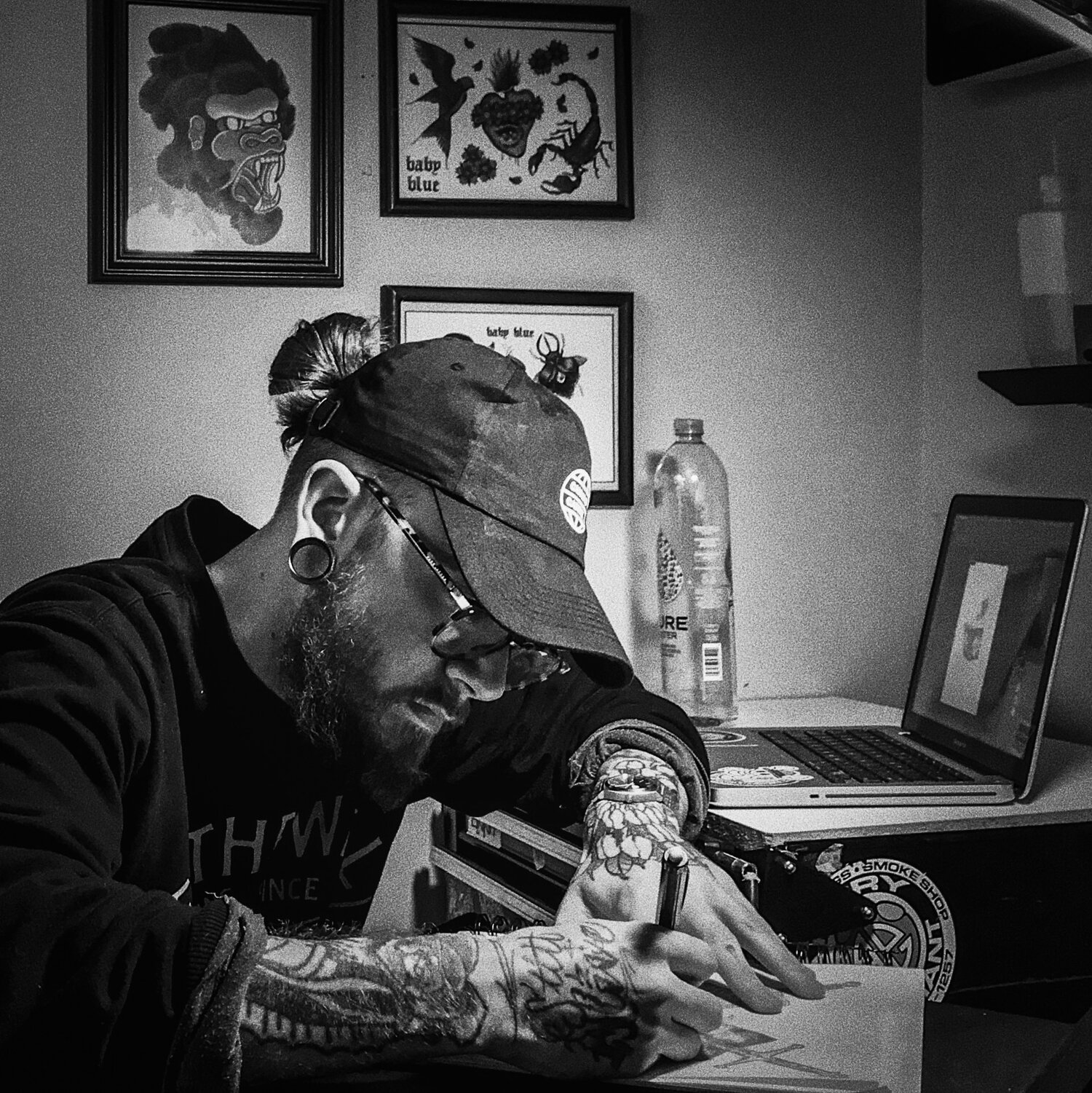 Francis O'Connell (@babyblue_ttt) - Former Mica Student who took the Fundamentals from Art School to becoming a Top Tier Tattoo Artist.