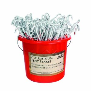 7 Inch Tent Stakes:6 Pack: Find them  here  or  Here ;Bulk (200pc): Find them Here or  Here