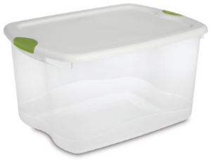 Tupperware Storage Bins; examples  here  and  here