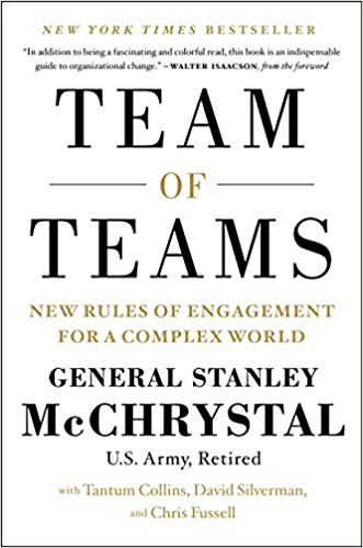 team of teams by General Stanley McChrystal.jpg
