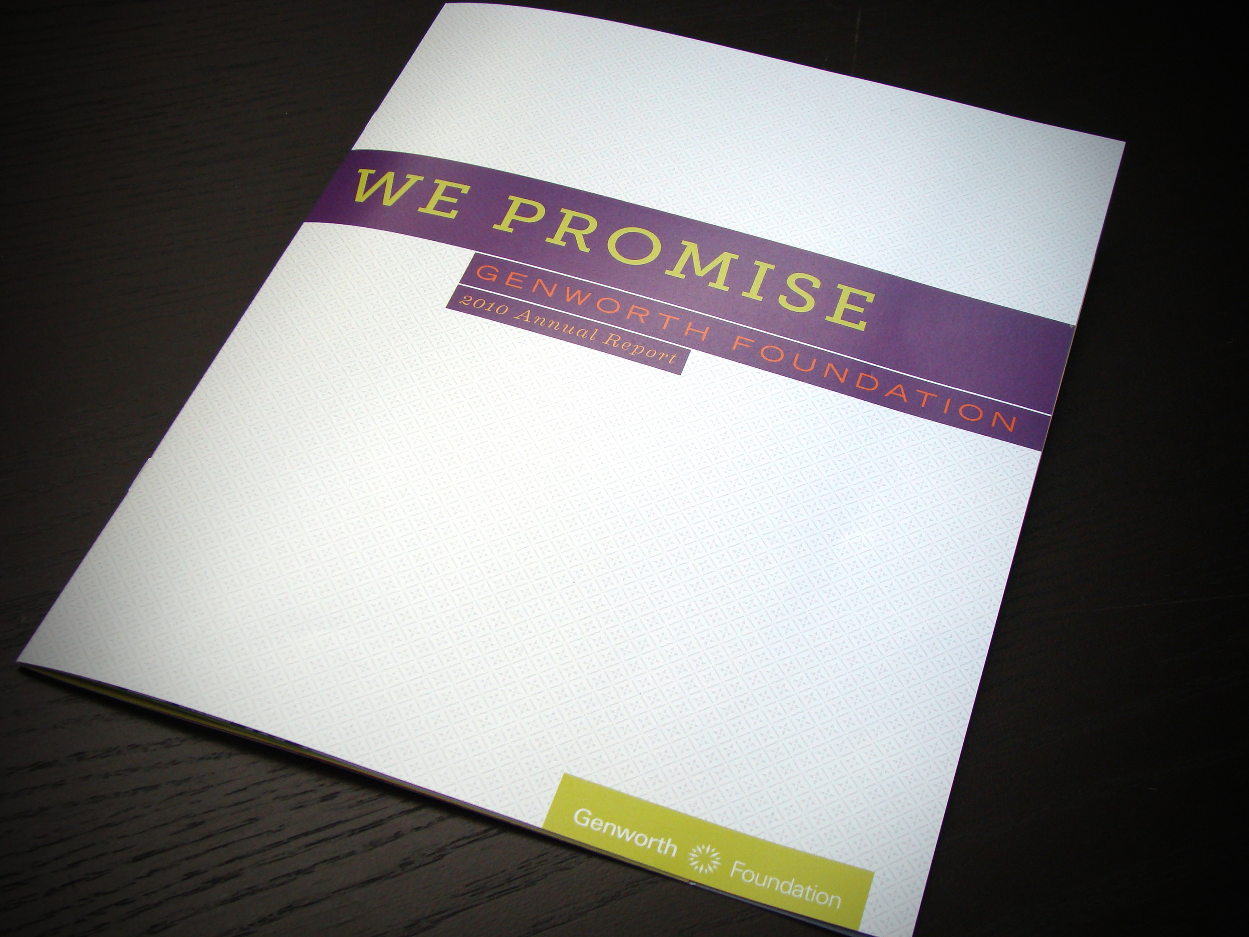 Genworth Foundation Annual Report Front Cover