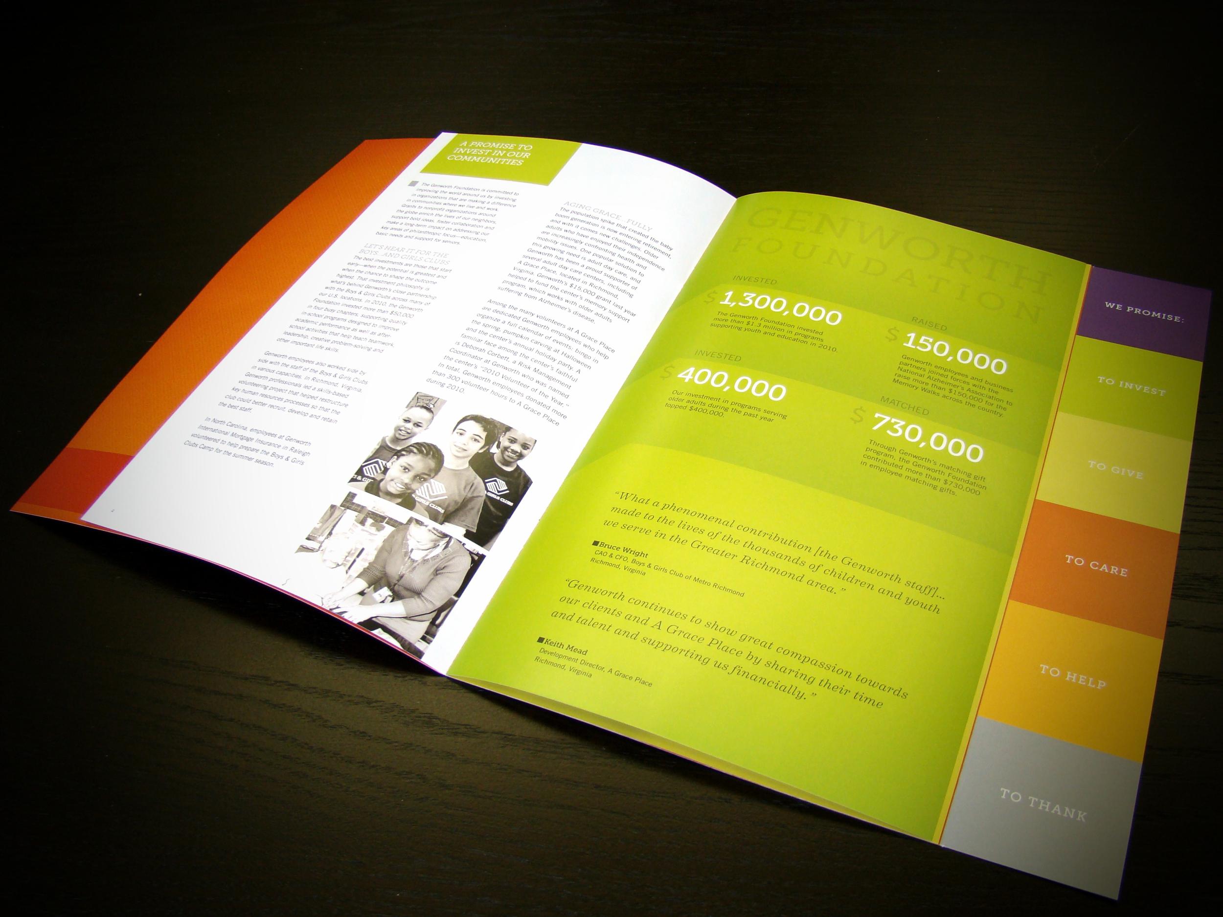 Genworth Foundation Annual Report Interior Spread