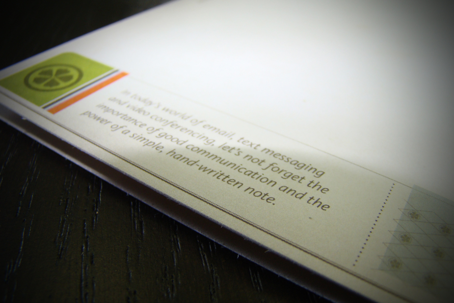 TFS Promotional Notecard