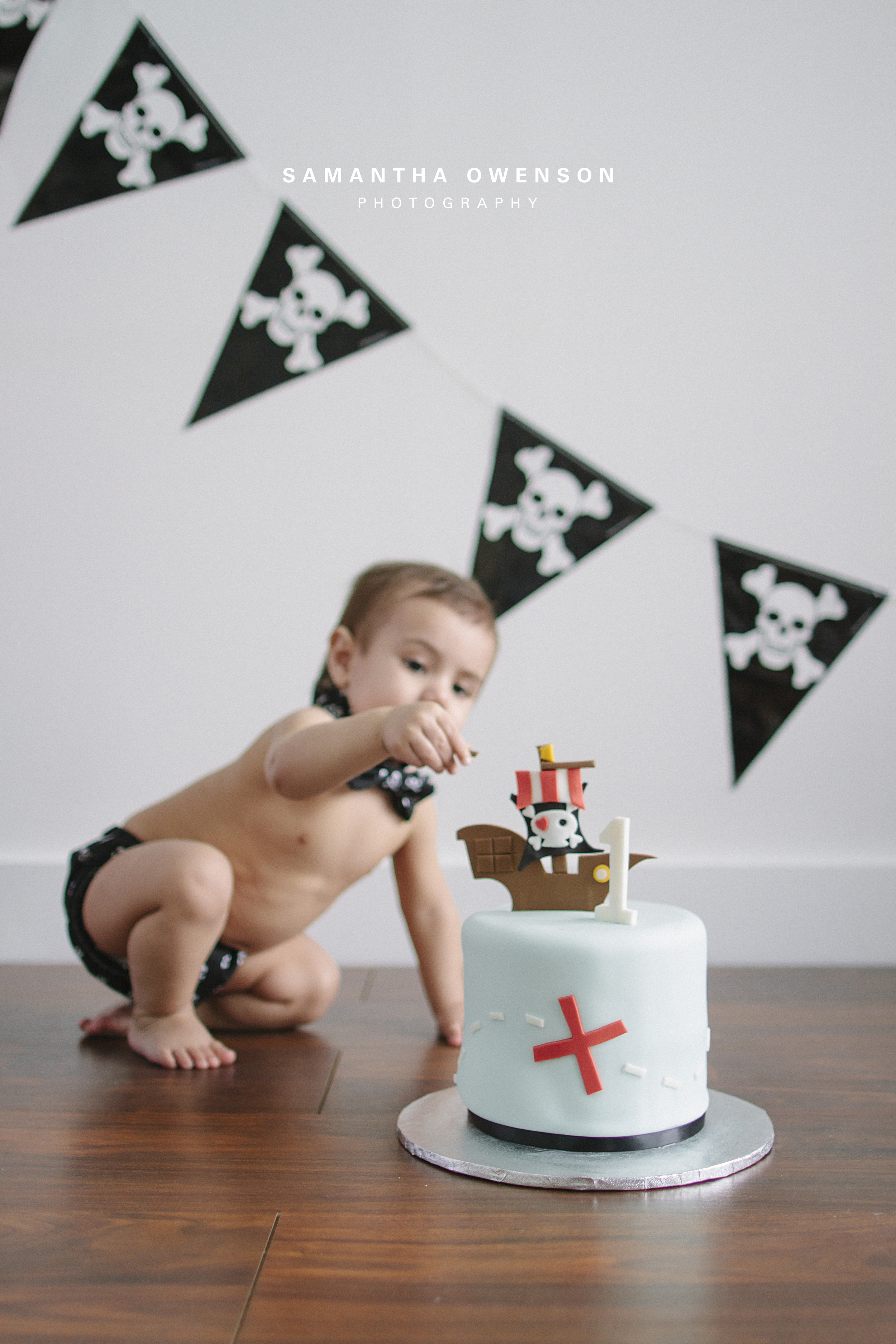 boys first birthday portrait