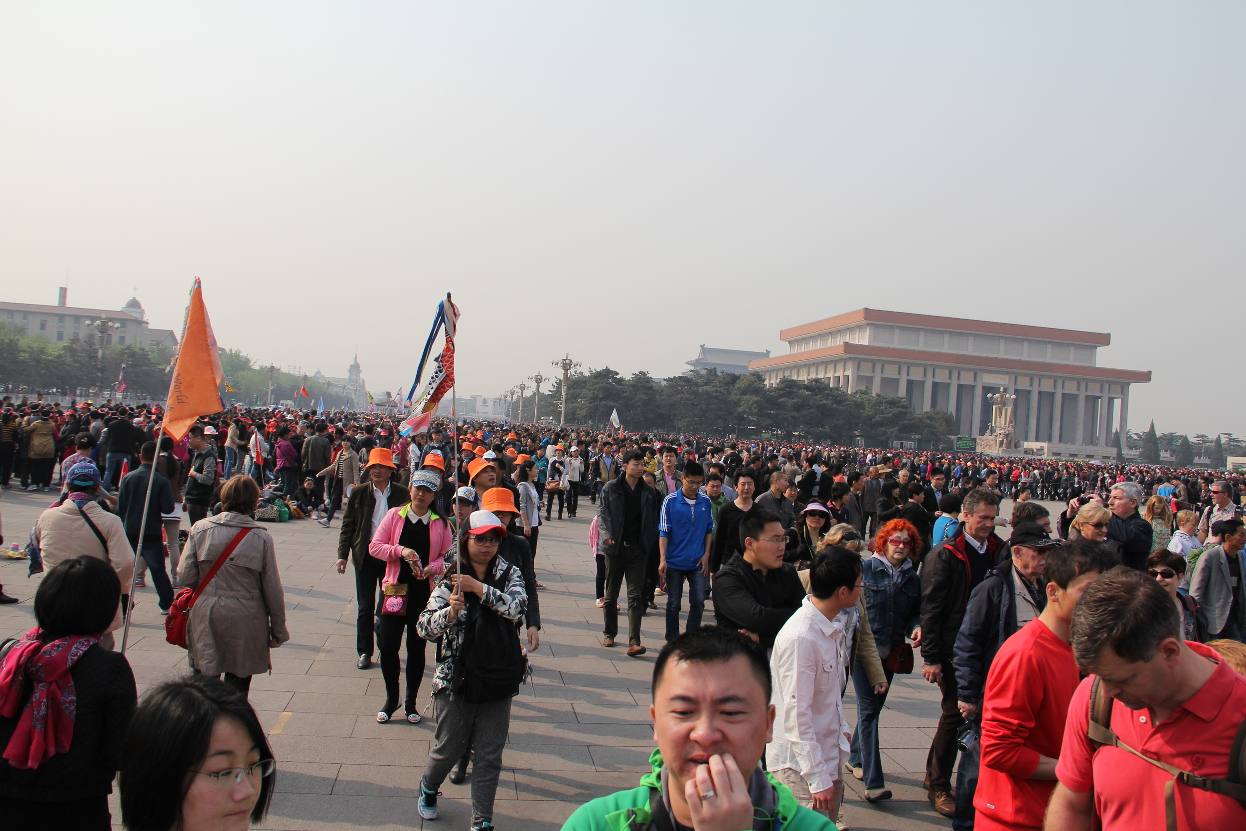 A glimpse in one direction of the amount of people... unbelievable! People from all over China come to see this area and of course all the tourists come too.