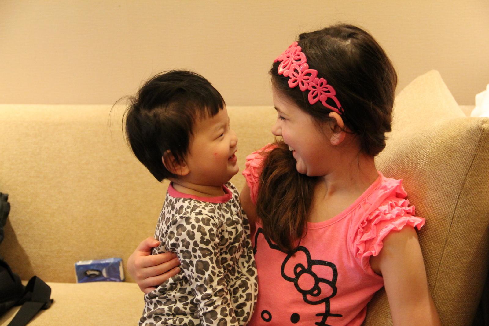 Mei Mei and Jie Jie. (Little Sister and Big Sister)