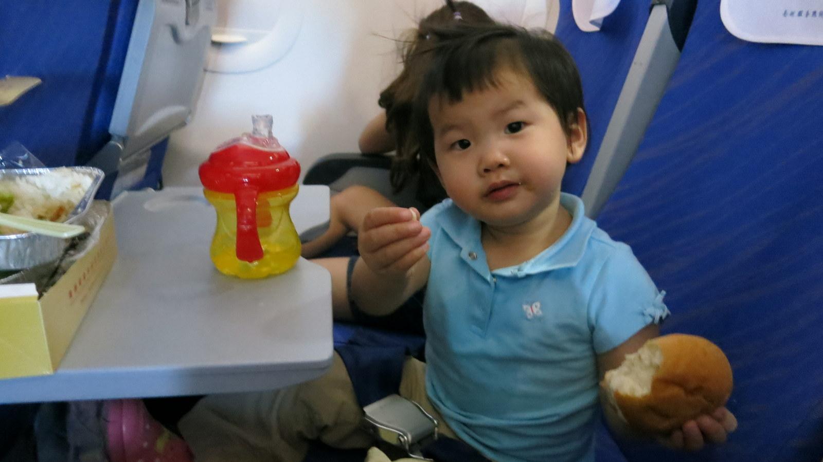 Rachel's first plane ride!