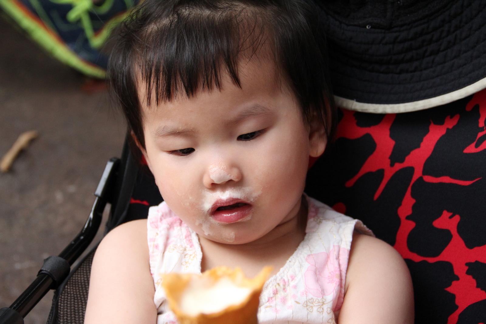My girl loves ice cream!