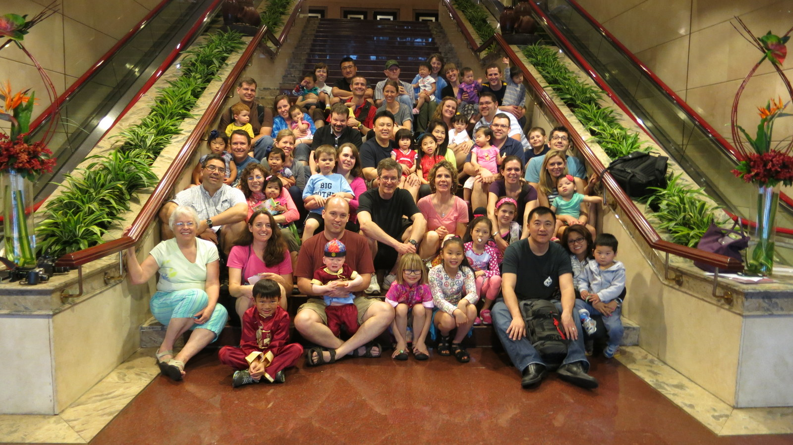 A group picture with the other Holt families right before our visas arrived! It was a big group and we were missing a family in this picture!