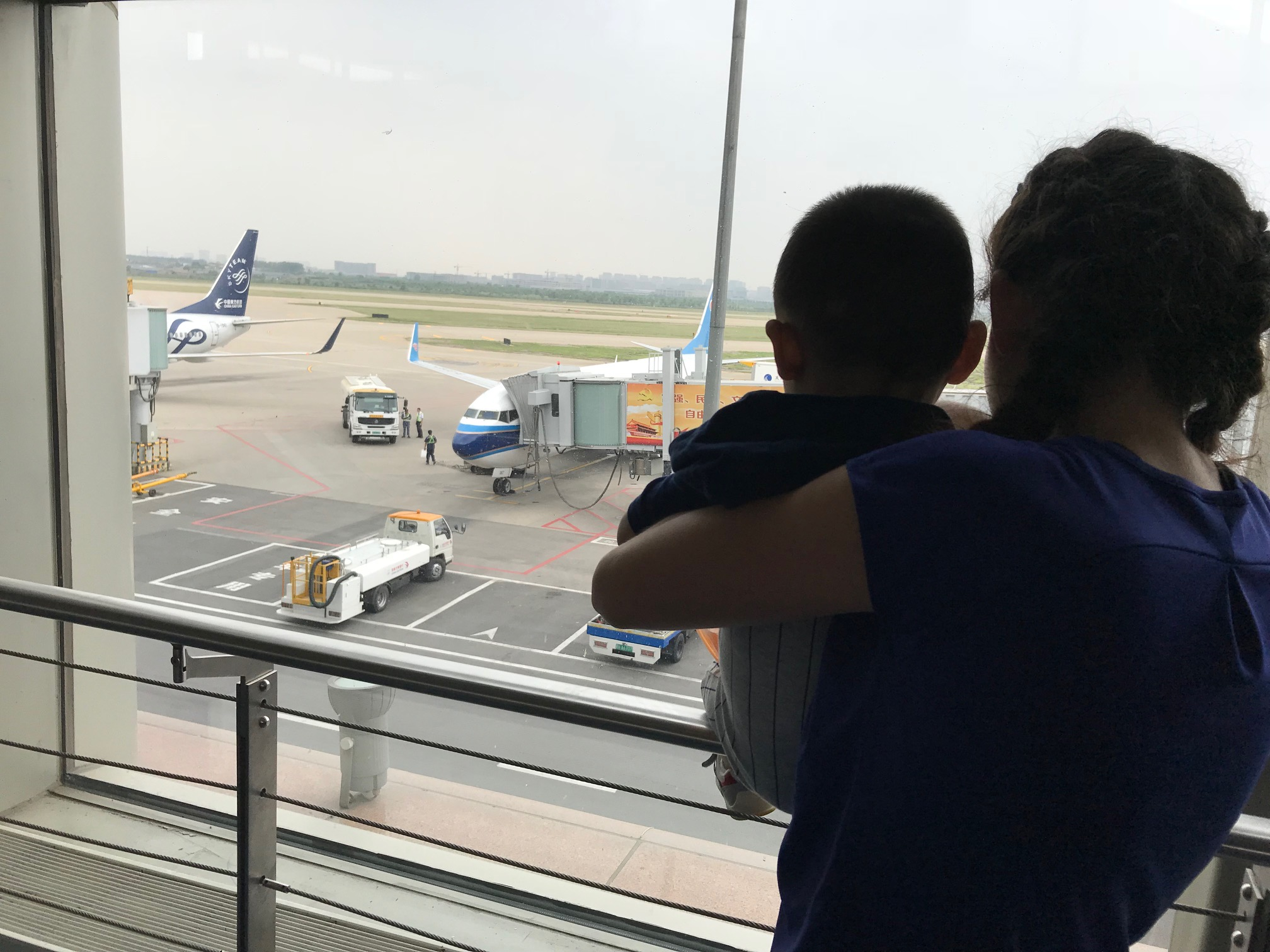 First time seeing airplanes... he had a lot to say about it but I didn't understand much of what he said.