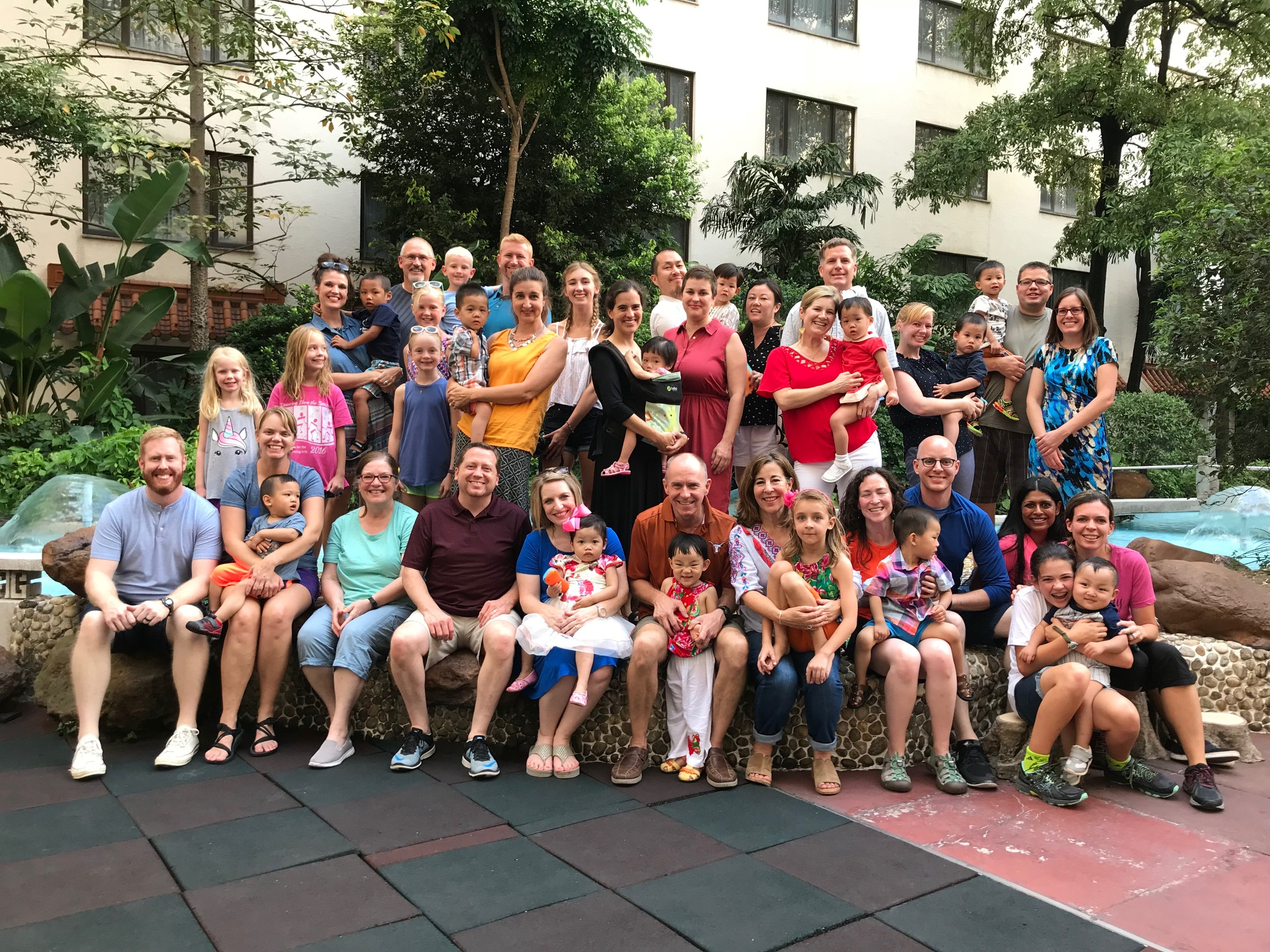 Our whole group of Holt families!  So thankful to travel with others who are experiencing the same as us.  Everyone is amazing about helping out each other.