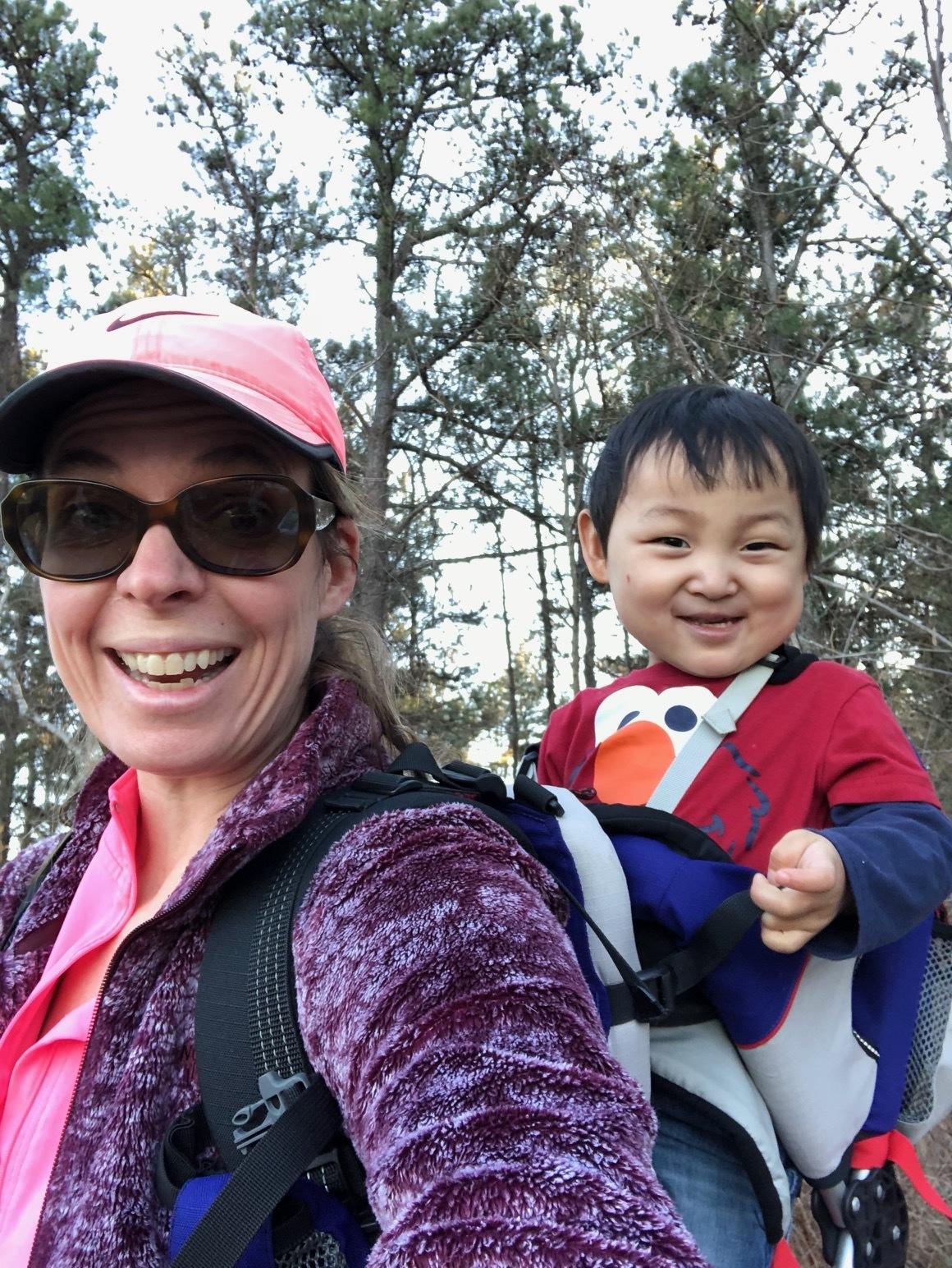 Luke loves to go hiking.