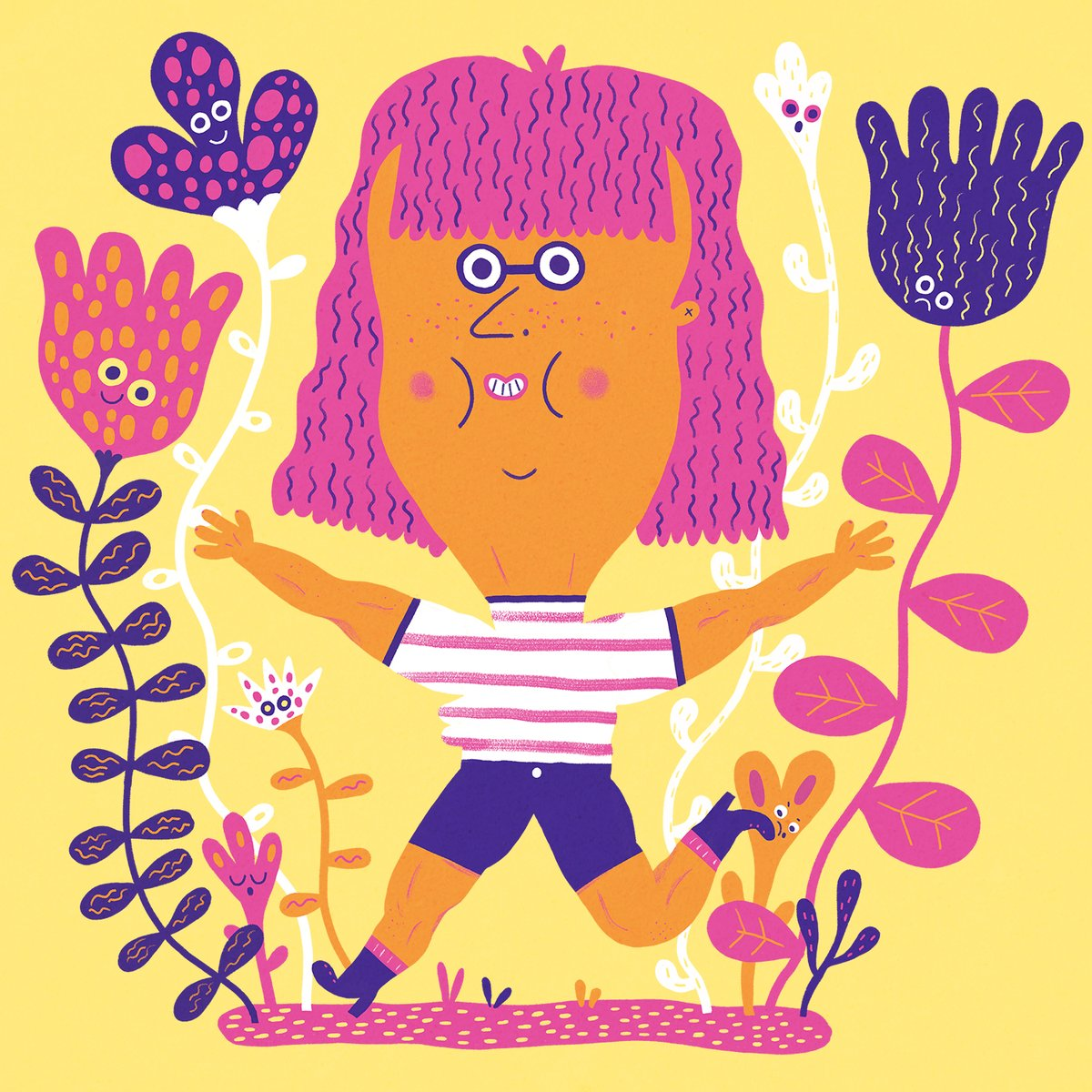 SELF PORTRAIT Running and flowers make up 90% of my personality!