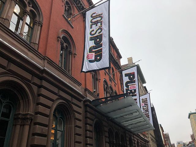 Today, I get to work for one of my favorite theaters on earth for a hot second. Thank you for having me @publictheaterny