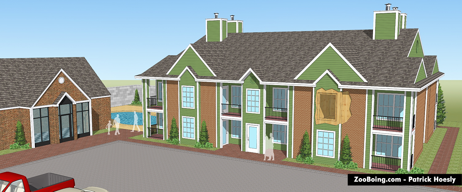 Building Section Rendering