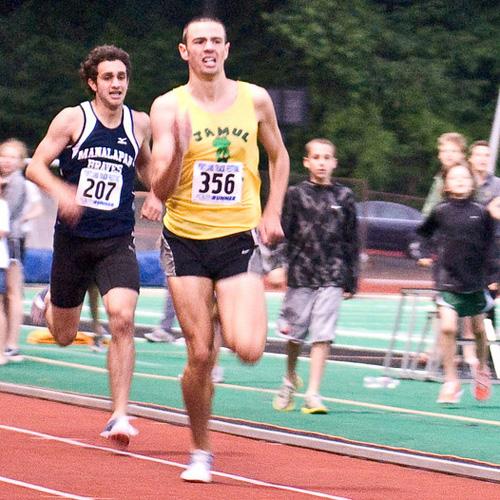 Future NCAA champions collide, as Mac Fleet (4:02.90) edges Robby Andrews (4:03.49)