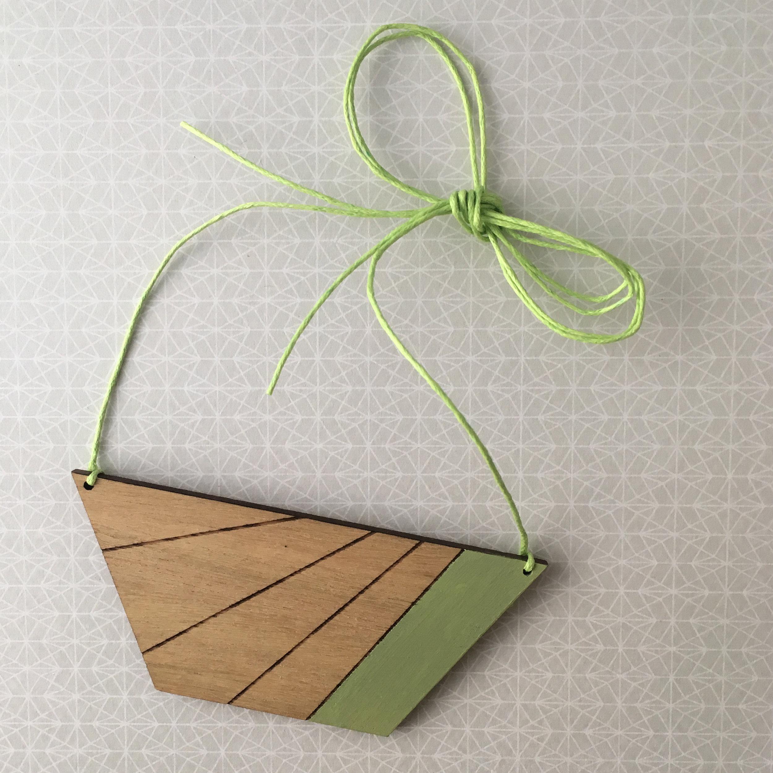Half Hex Stripe - Mint