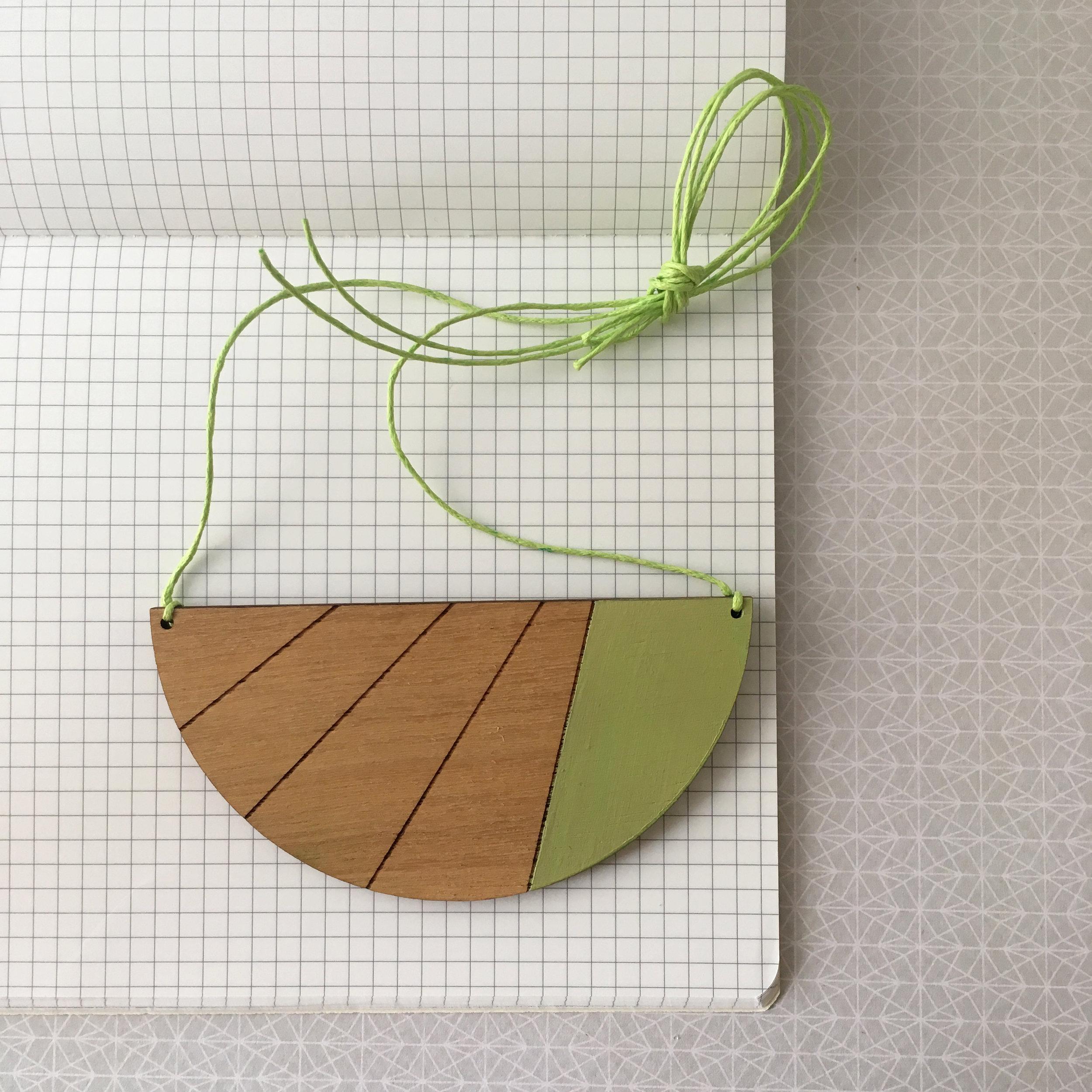 Semi Circle Stripe - Mint