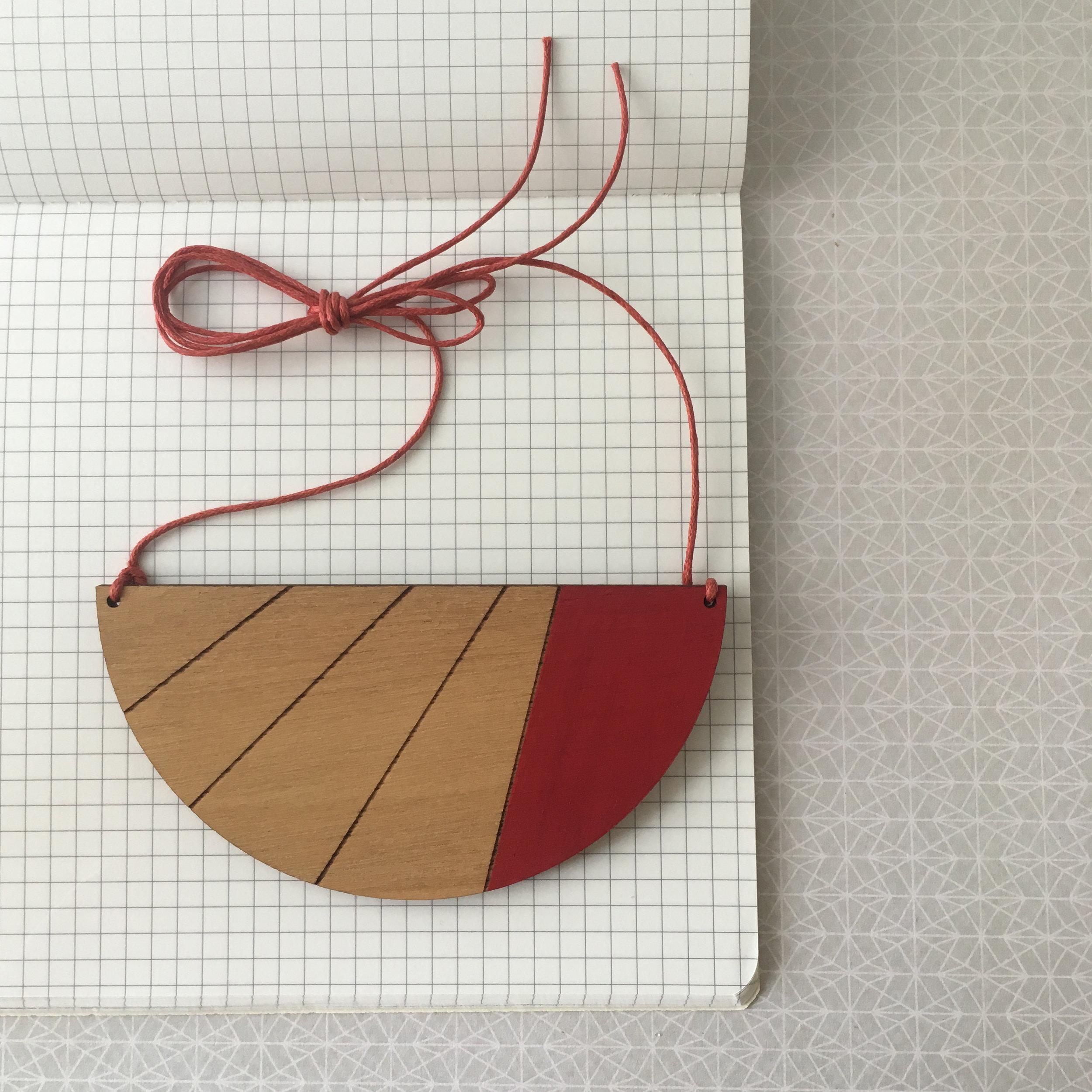 Semi Circle Stripe - Red