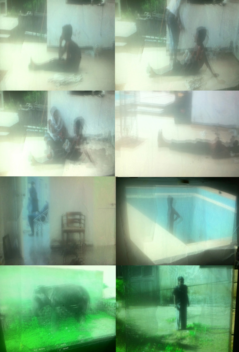 Rebirth (video stills) | projection on suspended silk cloth | variable | 2012