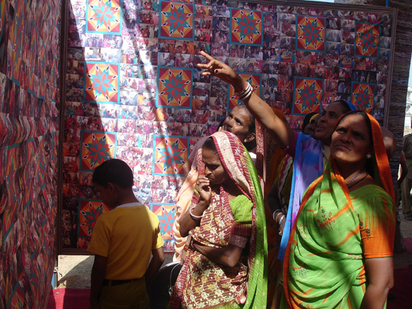 women at partapur at the installlation site.jpg