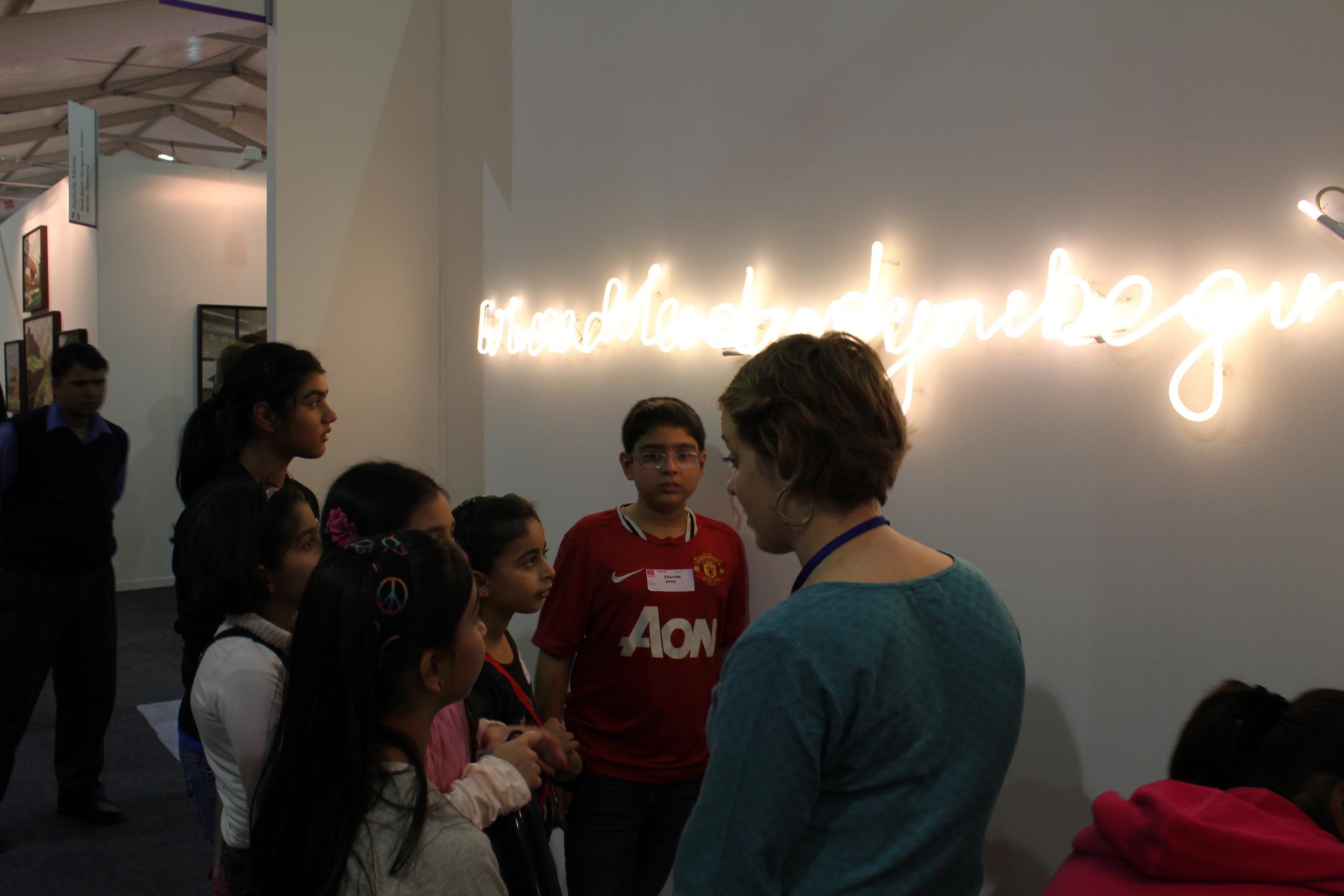 Interacting with Shilpa Gupta's work
