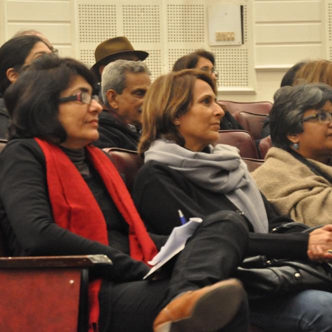 Parul Dave Mukherjee and Shukla Sawant, professors of JNU.jpg