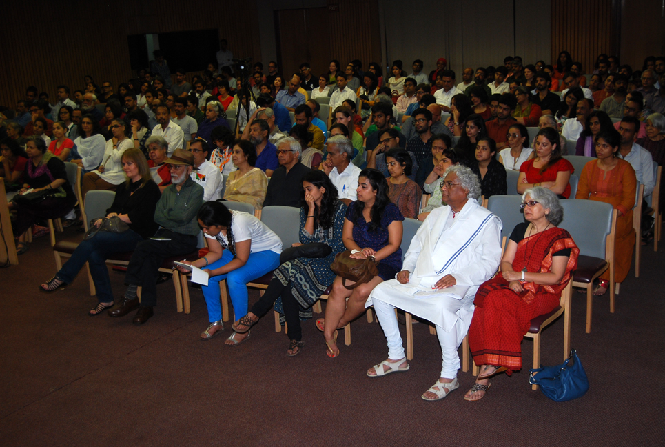 The audience at IIC Multipurpose Hall