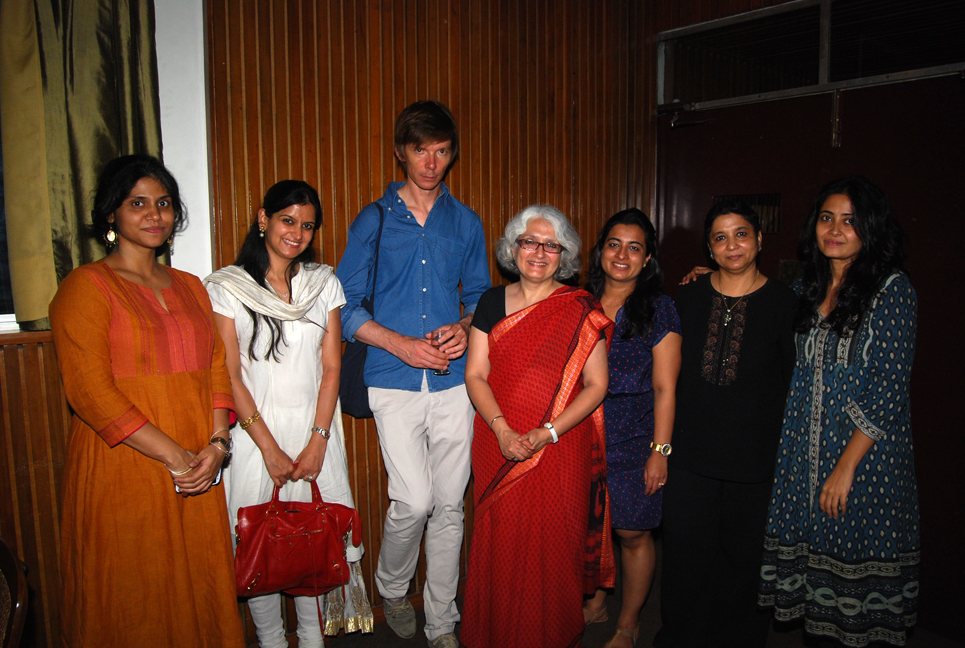 The FICA and Pro Helvetia New Delhi team members with Szymczyk