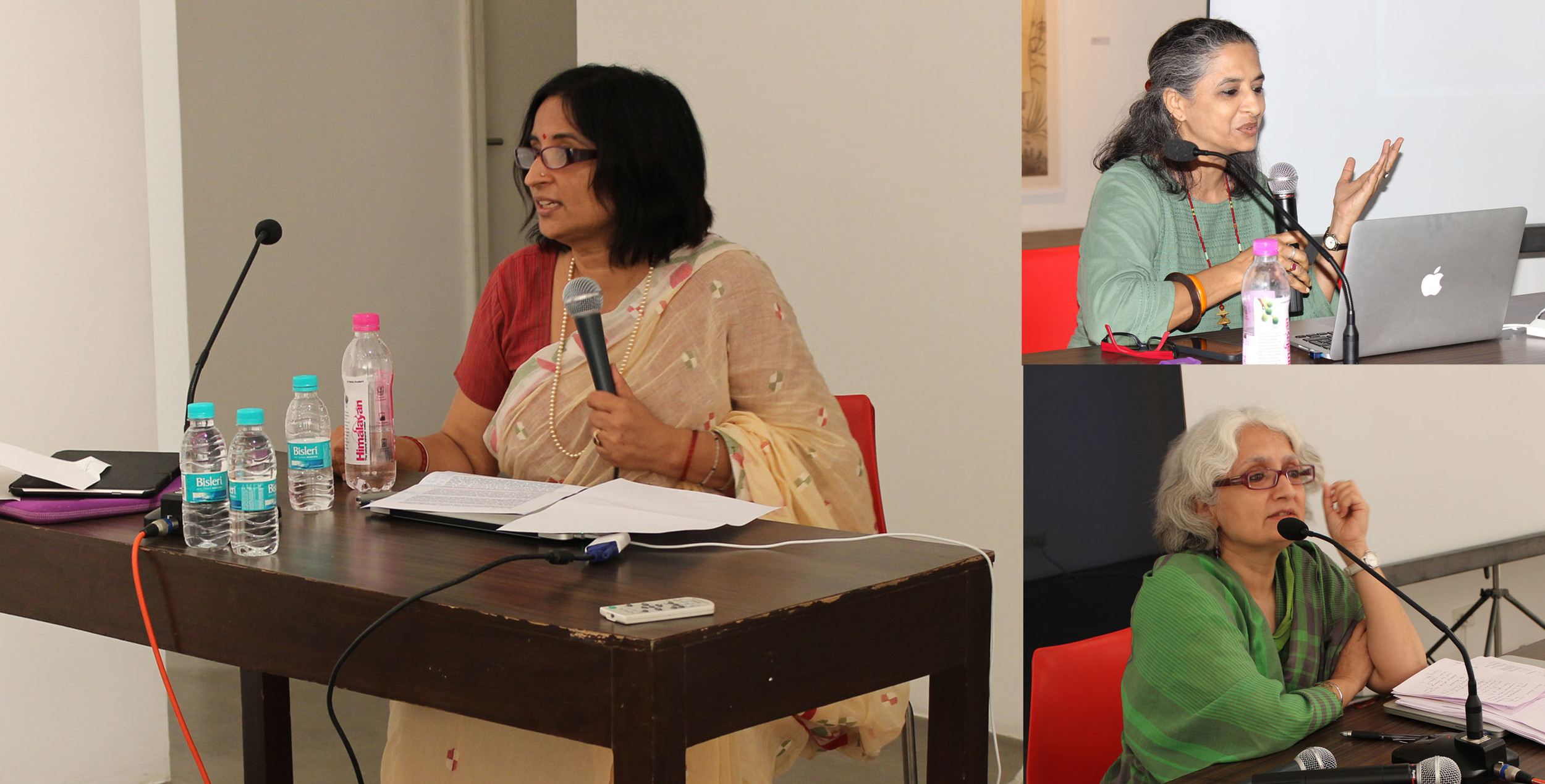The speakers for the evening - Annapurna Garimella, Manisha Parekh, Chandrika Grover
