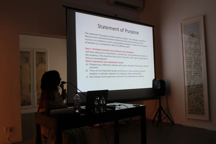 Annapurna Garimella's detailed presentation on how to develop an artist's portfolio