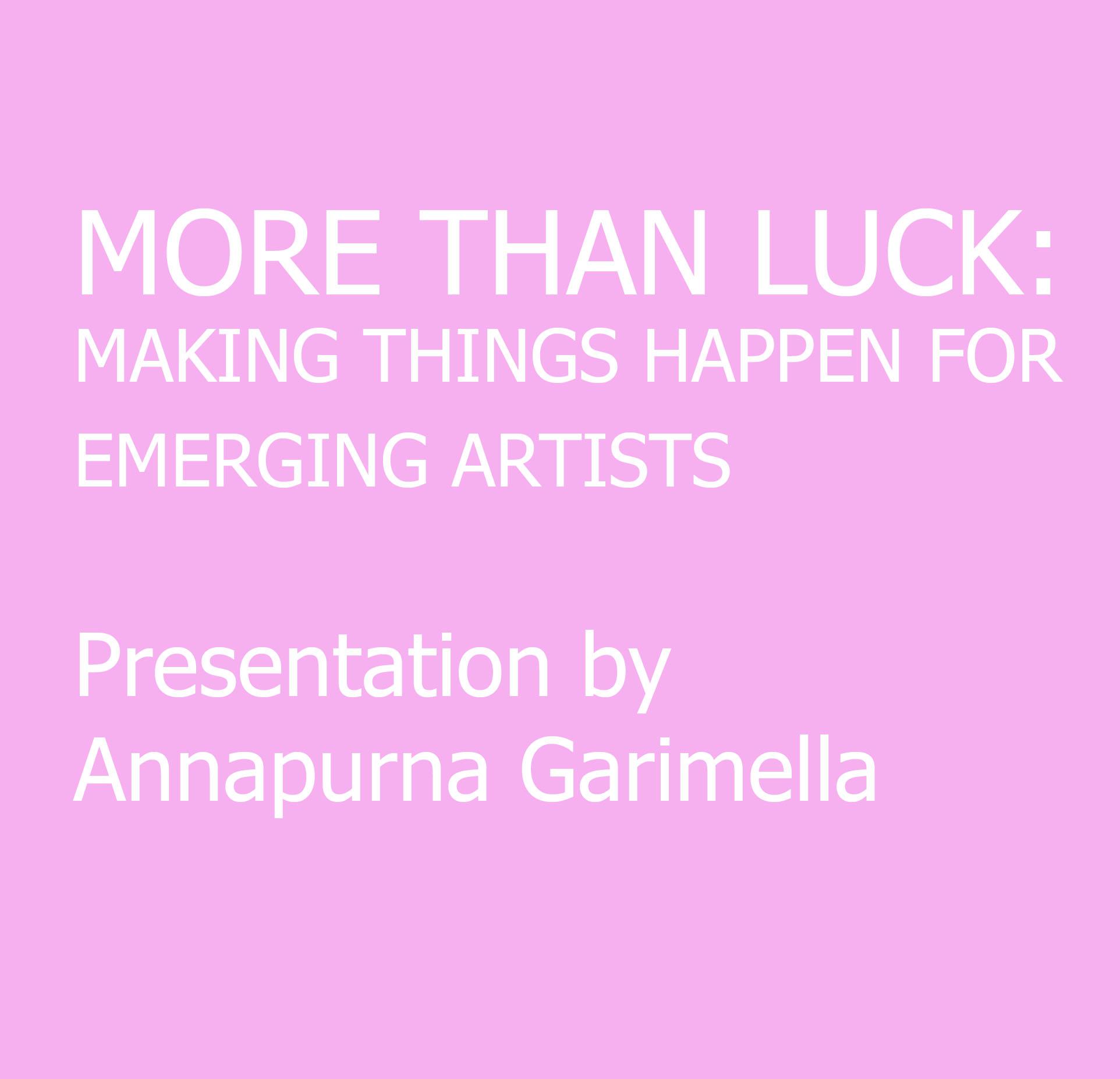 PRESENTATION BY ANNAPURNA GARIMELLA