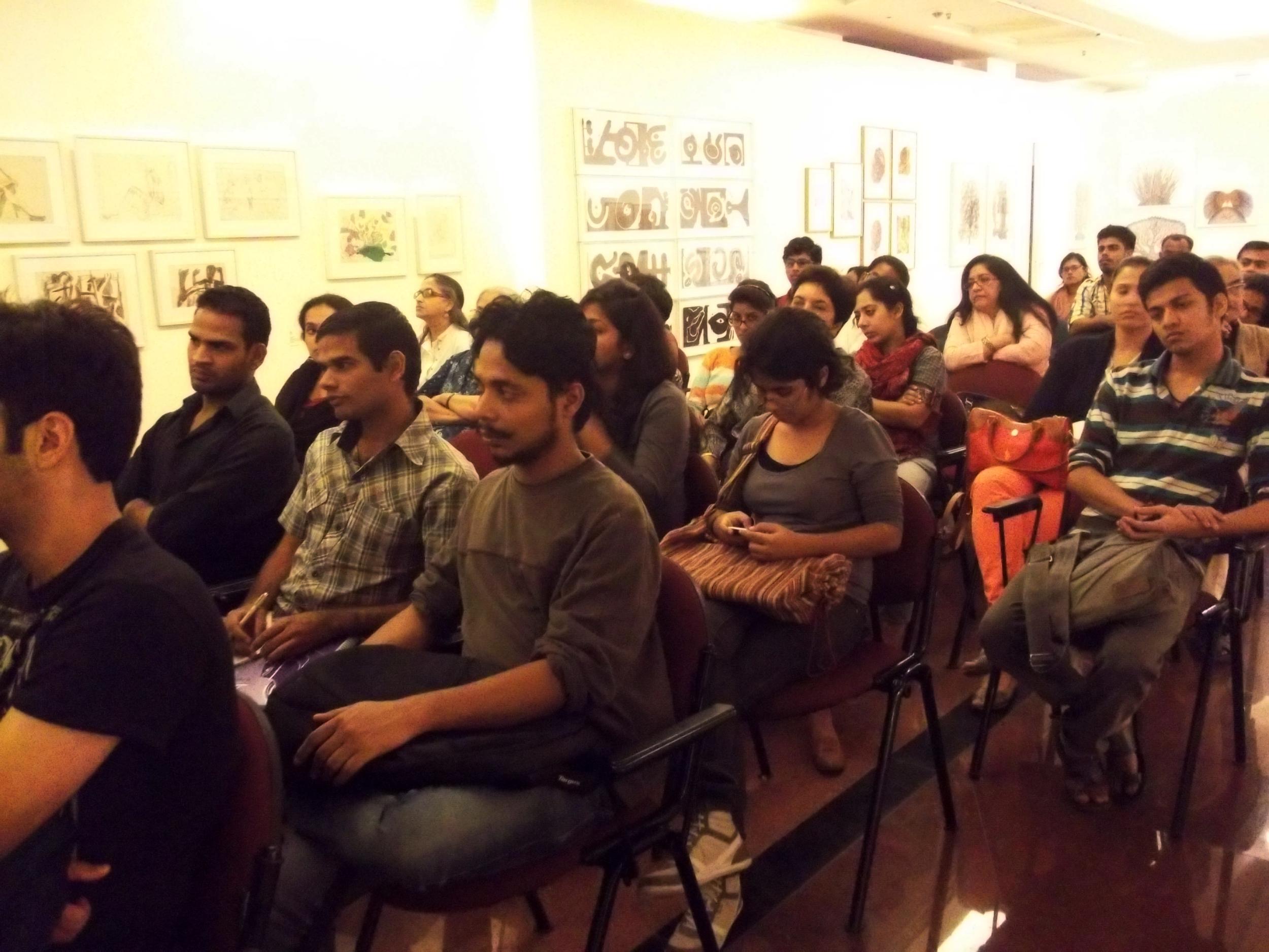 Participants at Sudhir Patwardhan's workshop
