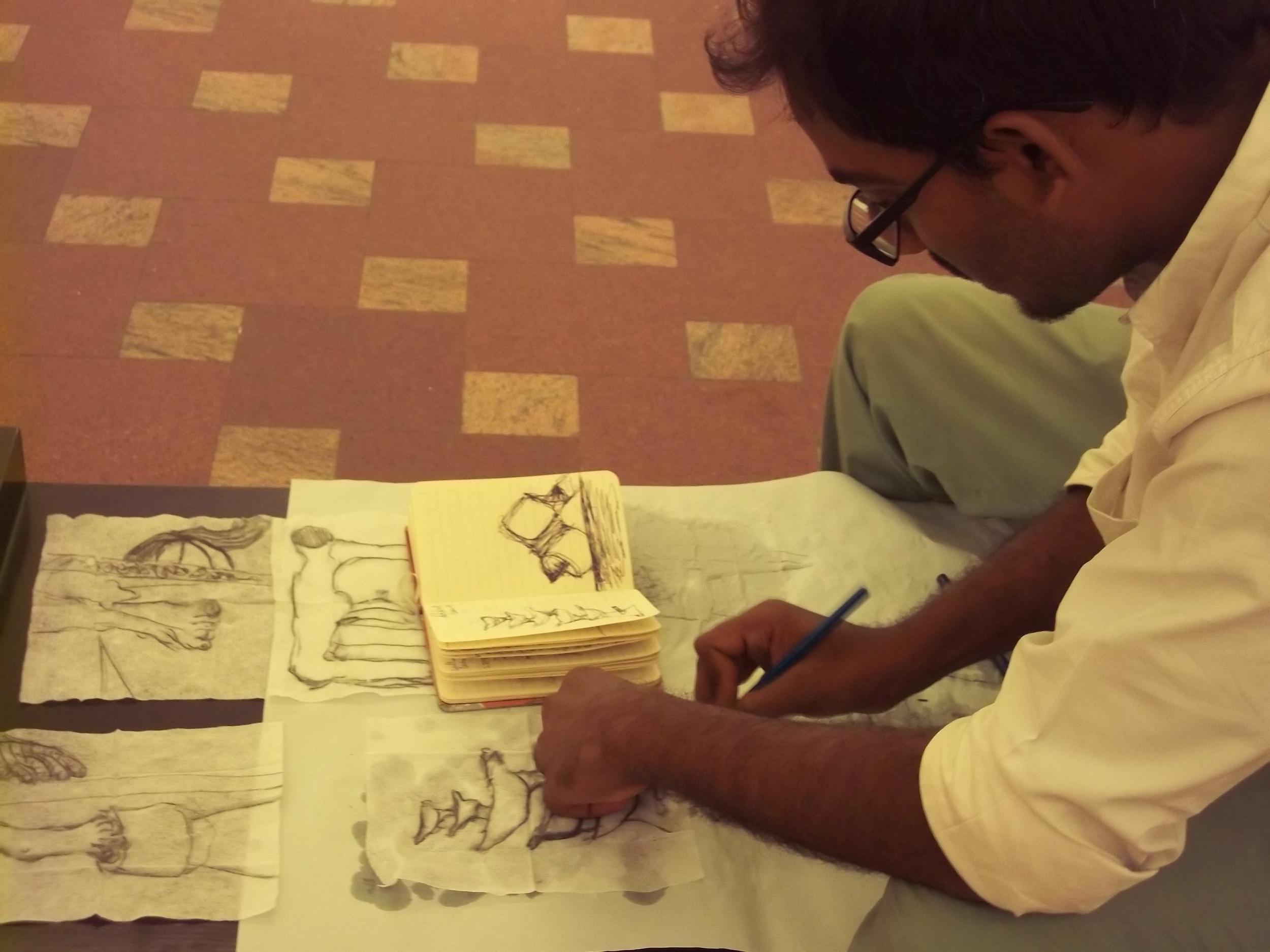 Sudhir Patwardhan's drawing workshop