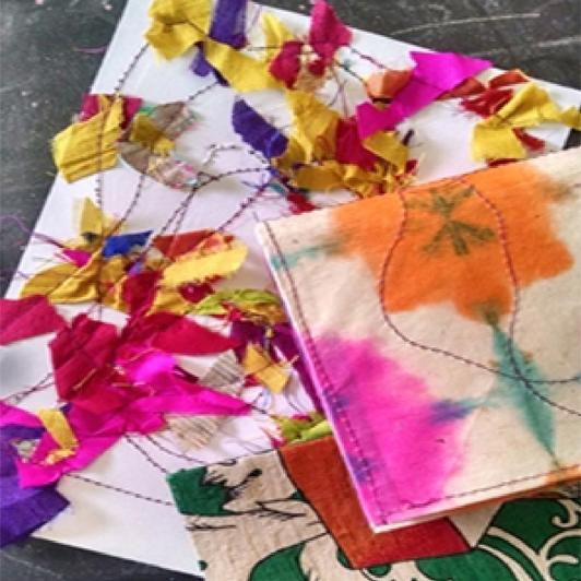 STITCH YOUR OWN JOURNAL | ART WORKSHOP BY NIDHI KHURANA