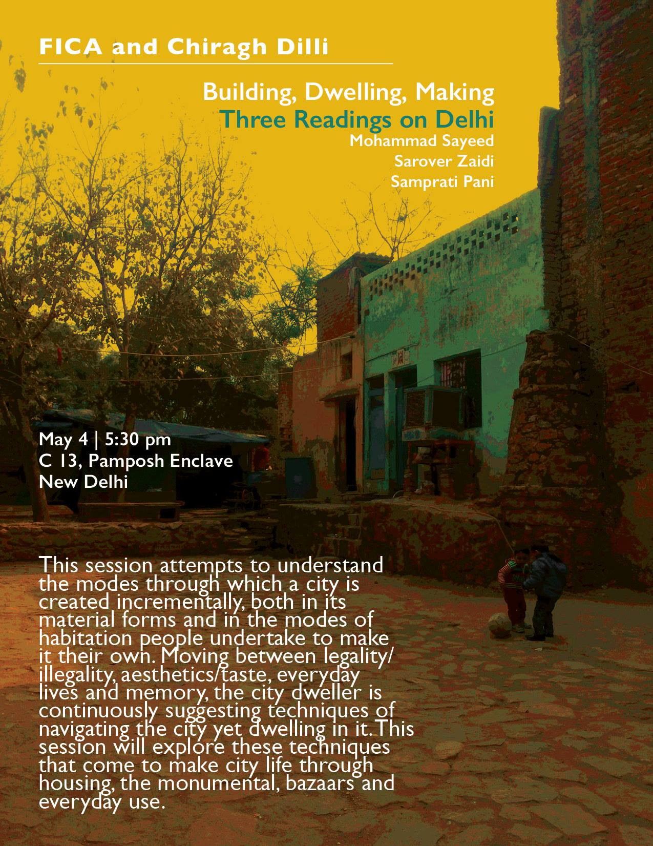 three readings on delhi | 4 may 2017