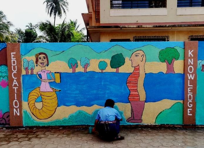 STORIES ON THE WALL: A MURAL WORKSHOP FOR CHILDREN CONDUCTED BY RUCHIN SONI   OCTOBER 9 TO 13, 2017