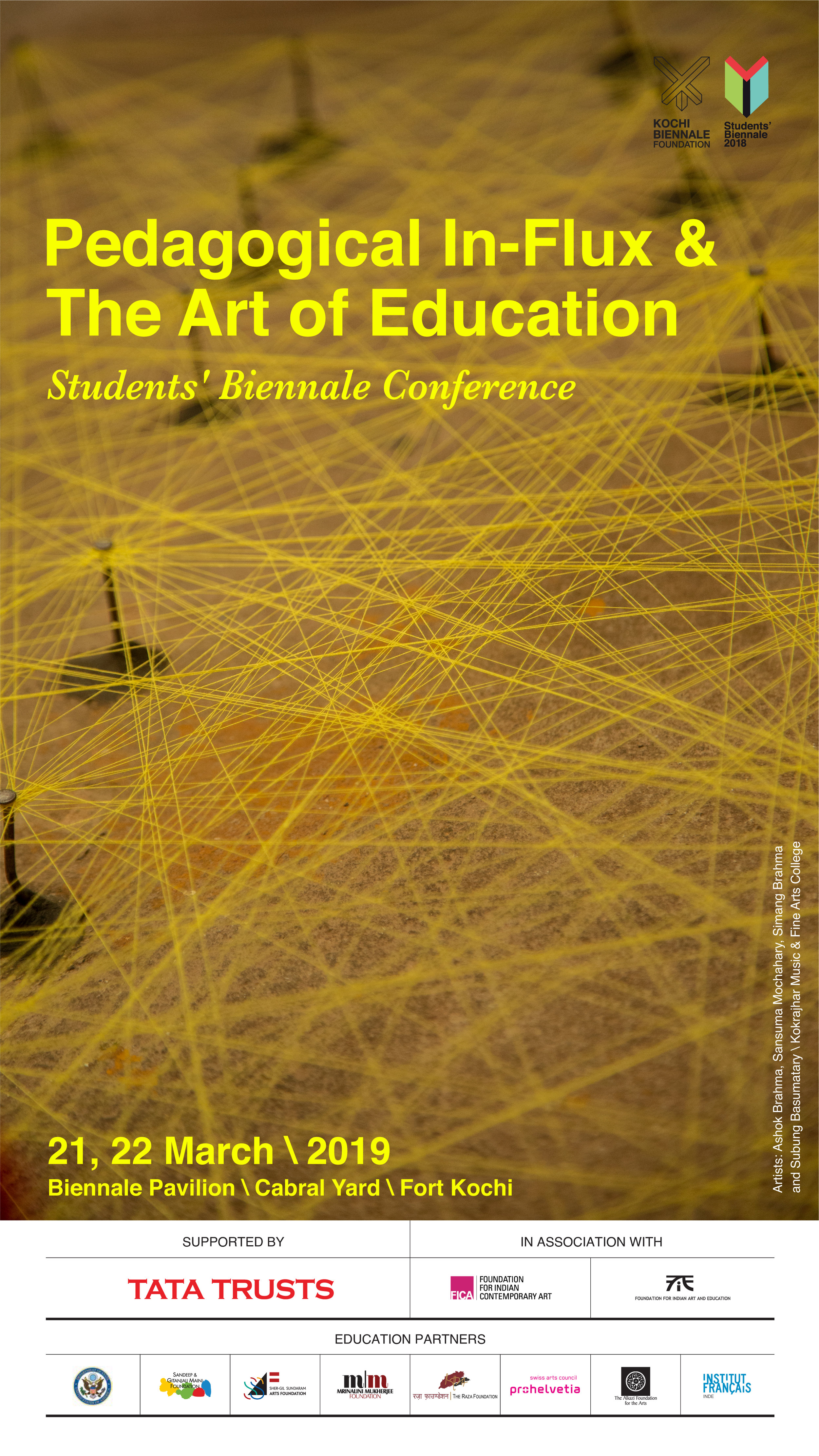 Pedagogical In-Flux & The Art of Education   International Art Education Conference | 21-22 march 2019, Kochi