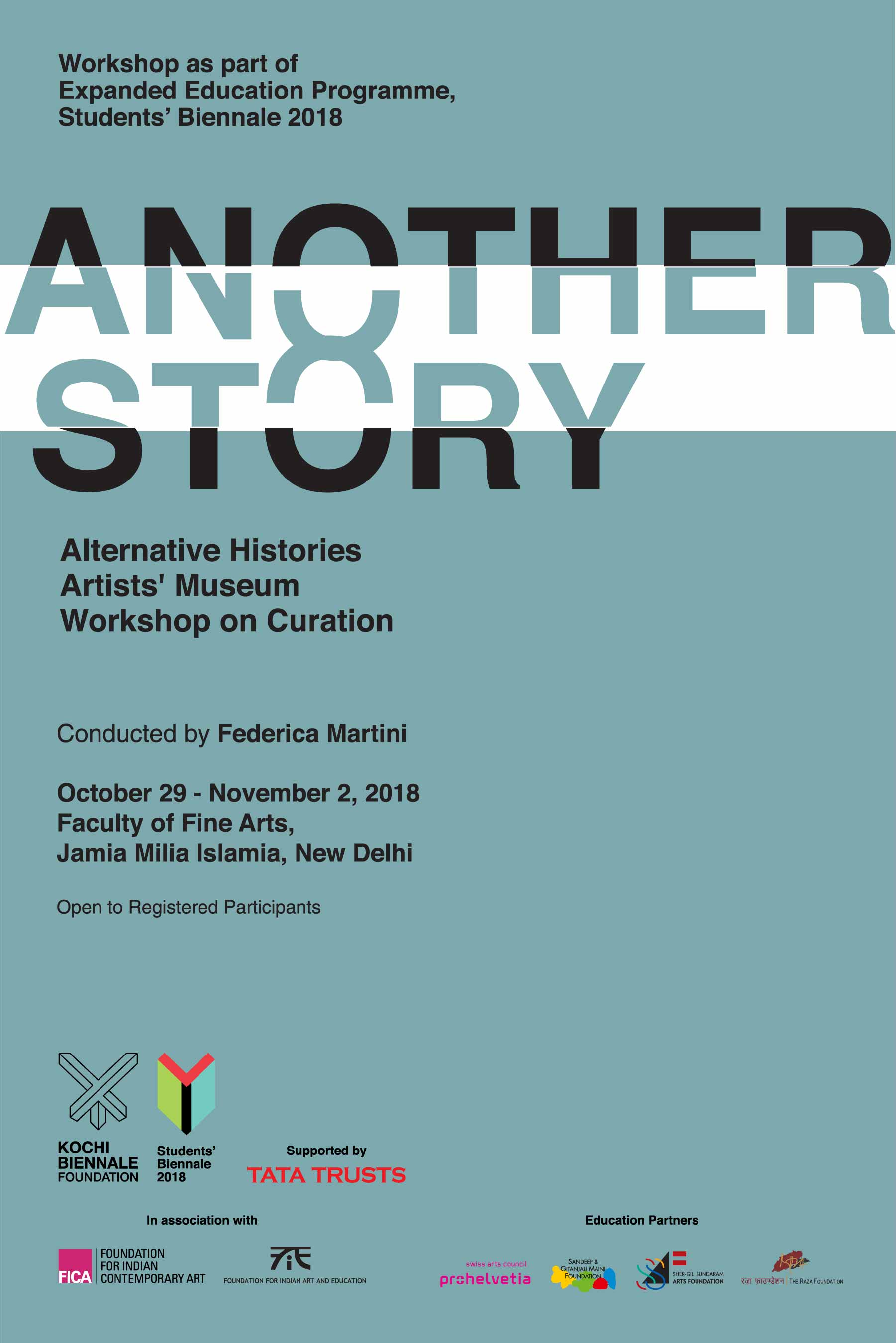 NEW DELHI | 29 October – 02 November 2018    Another Story: Artists' Museums, Alternative Histories   by   Federica Martini